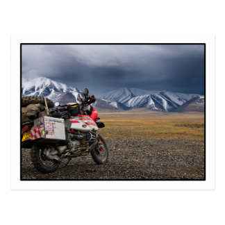 Biking in the Altai Mountains - Mongolia Postcard