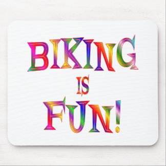 Biking is Fun Mouse Pad