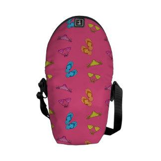 Bikini and sandals pink pattern commuter bags