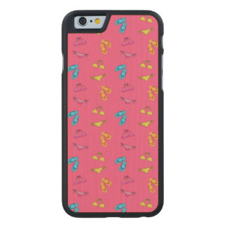 Bikini and sandals pink pattern carved® maple iPhone 6 case