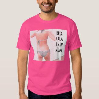 ~Bikini~ BIKINI KEEP CALM I'M IN MIAMI T-shirt