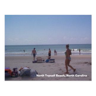Bikini Girl at North Topsail Beach Postcard