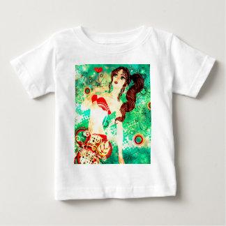 Bikini Girl on Grunge Green Background 2 Baby T-Shirt