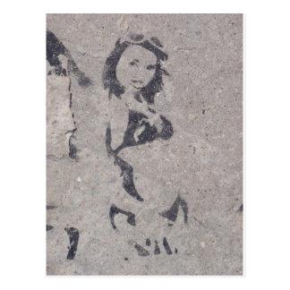 Bikini Girl Street Art Postcard
