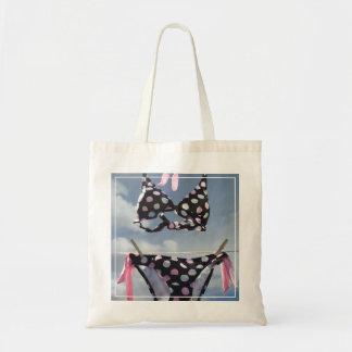 Bikini Hanging On A Clothesline Budget Tote Bag
