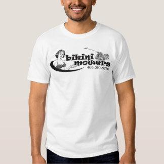 Bikini Mowers - Logo on Front - Single Sided T Shirts