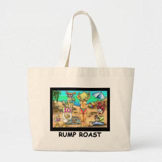 Bikini Rump Roast Funny Offbeat Tees & Gifts Jumbo Tote Bag