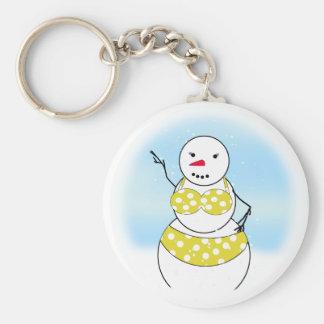 Bikini Time Snowmen Bikini Girl Key Chains