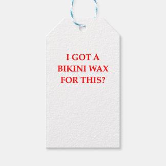 bikini wax gift tags