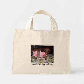 bikiniweens1, Weenie In Bikini Mini Tote Bag