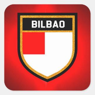Bilbao Flag Square Sticker