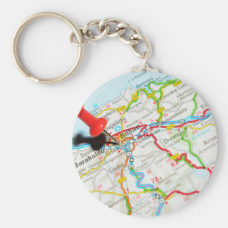 Bilbao, Spain Basic Round Button Keychain