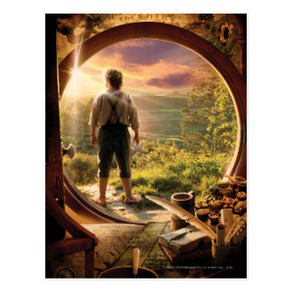 Bilbo Back in Shire Collage Post Cards