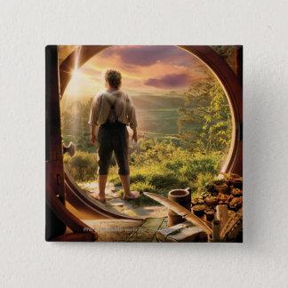 BILBO BAGGINS™ Back in Shire Collage 2 Inch Square Button