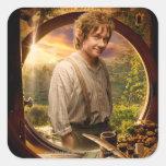 Bilbo in Shire Collage Sticker