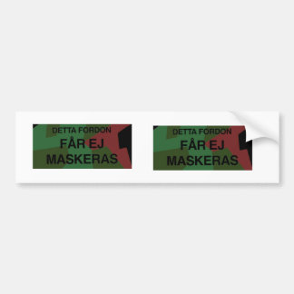 Bildekal Bumper Sticker