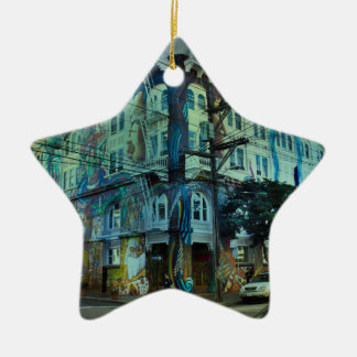 Bilding san francisco ceramic ornament