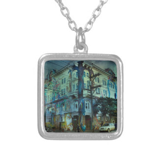 Bilding san francisco silver plated necklace