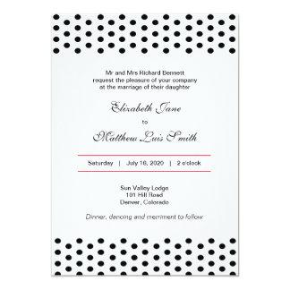 Bilingual Bold Polka Dot Wedding Invitation