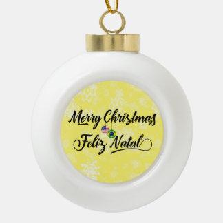 Bilingual Brazilian American Holiday Ornament