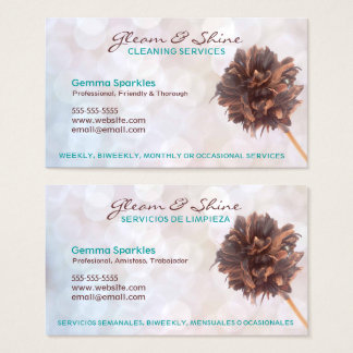 Bilingual Cleaning Services Business Cards