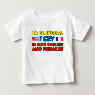 Bilingual Cry English And French T Shirts