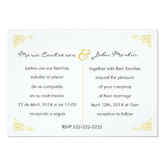Bilingual English Spanish Wedding Invitation