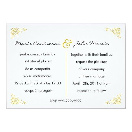 Wedding Invitations Bilingual is luxury invitations template