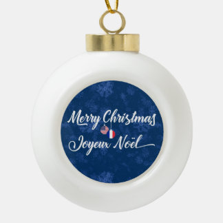 Bilingual French American Holiday Ornament
