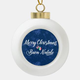 Bilingual Italian American Holiday Ornament