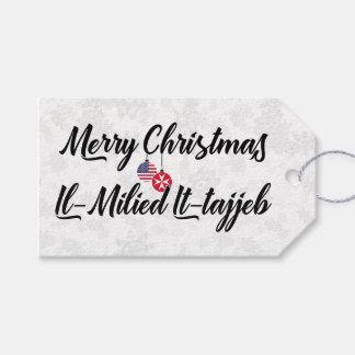 Bilingual Maltese American Holiday Gift Tags