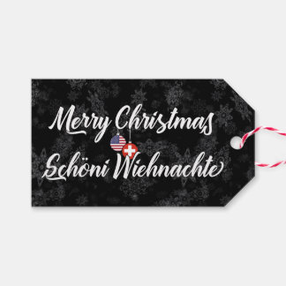 Bilingual Swiss American Holiday Gift Tags
