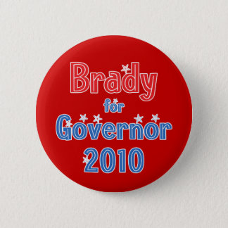Bill Brady for Governor 2010 Star Design 2 Inch Round Button