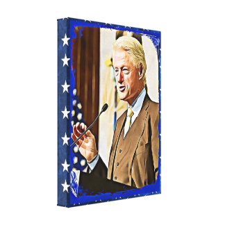 Bill Clinton 42nd President Keepsake Canvas Art