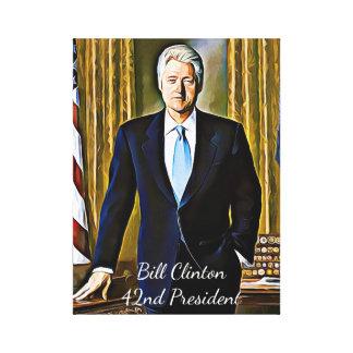 Bill Clinton 42nd President Keepsake Canvas Art