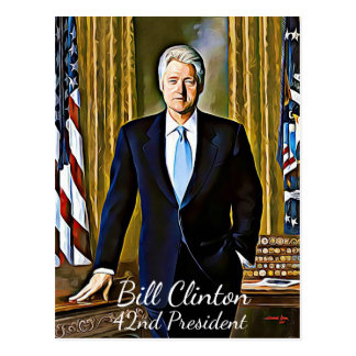 Bill Clinton 42nd President Keepsake Postcard