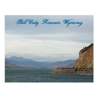 Bill Cody Resevoir, Wyoming Postcard