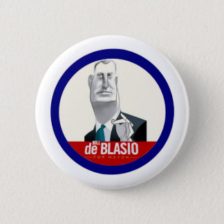 Bill De Blasio NYC Mayor 2013 2 Inch Round Button