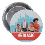 Bill de Blasio pour le maire de NYC en 2013 Macaron Rond 7,6 Cm