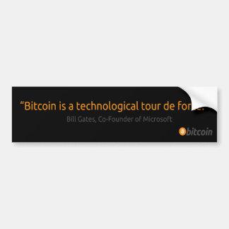 Bill Gates bitcoin bumper sticker