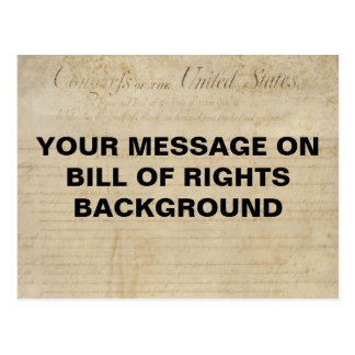Bill of Rights Customizable Template Postcard