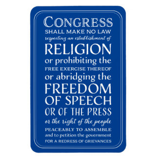 Bill of Rights Freedom of Speech Vintage Lettering Magnet