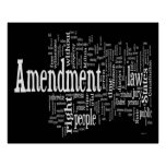 Bill of Rights Word Cloud Poster