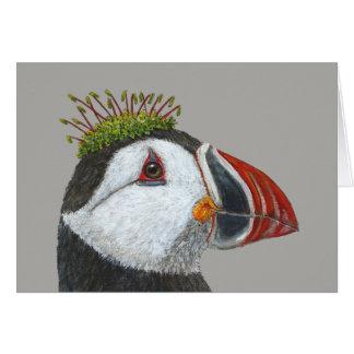 Bill the Atlantic puffin greeting card