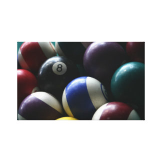 Billard table photograph on canvas game room photo
