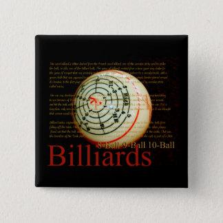 Billards 2 Inch Square Button
