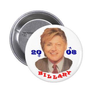 Billary 2008 2 inch round button