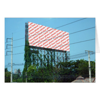 Billboard of Whatever You Want Folding Card
