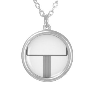 Billboard Silver Plated Necklace
