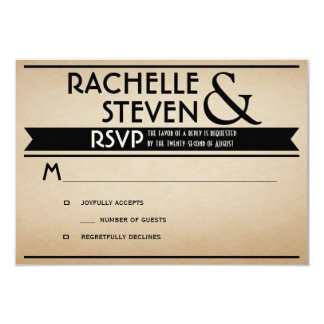 Billboard Wedding RSVP Card